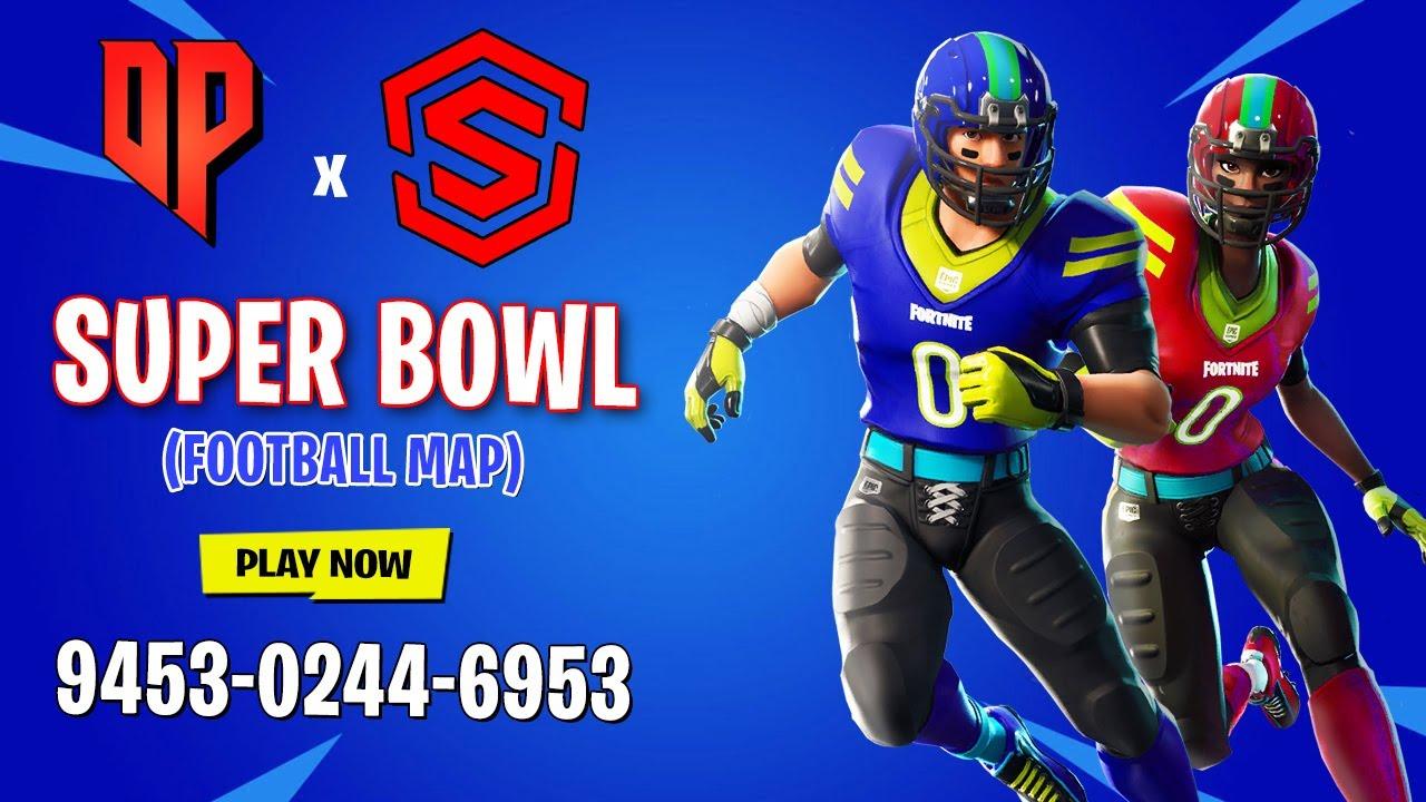 Football Fortnite Fortnite Super Bowl 2020 Nfl Mini Game By Derponce Fortnite Creative Island Code