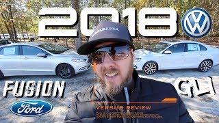 🔴 NEW 2018 VW Jetta GLI vs 2018 FORD FUSION SE Sport | Auto Vlog Channel - Exclusive Review