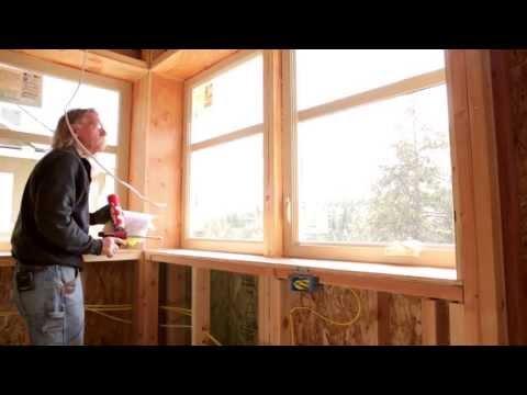 Air Sealing the Exterior of a Zero Energy Home (ZEH)