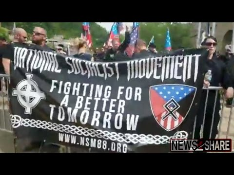Full Video: Nazi and Antifa Protesters Face off in Pikeville