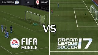 Fifa Mobile vs Dream League Soccer 17 (Gameplay)