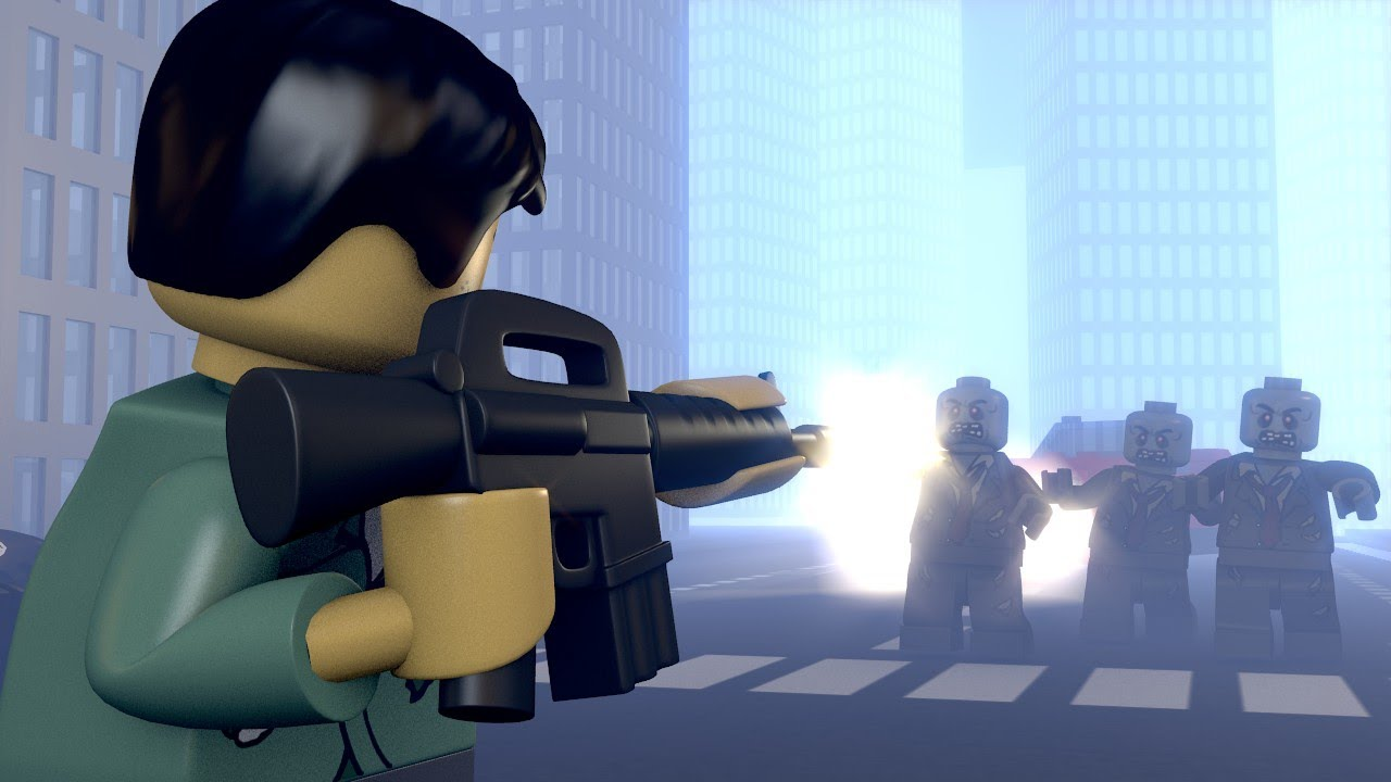 Lego zombie fighters youtube