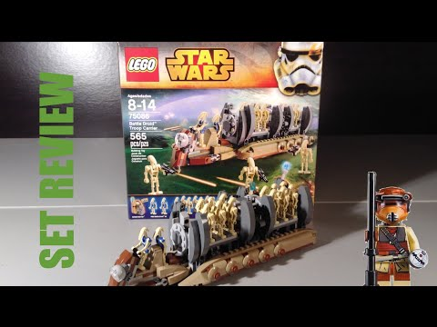 Lego 75086 Battle Droid Troop Carrier Review - YouTube