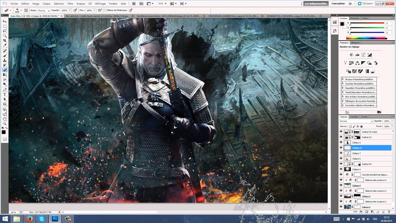 Speed art the witcher 3 wallpaper 4k youtube - The witcher wallpaper 4k ...