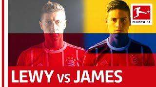 The battle of the bayern superstars: james rodriguez vs. robert lewandowski