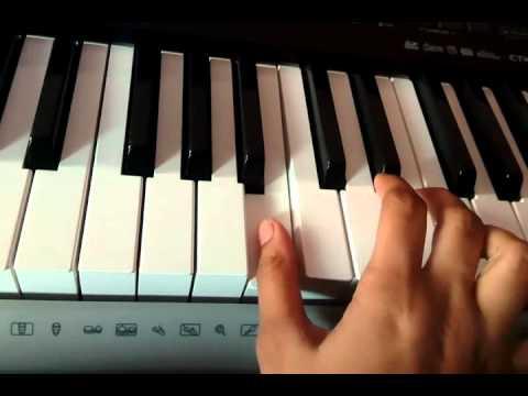 Yeh hai mohabbatien title on piano