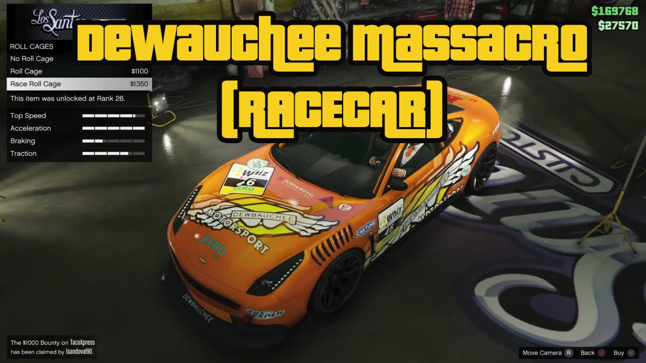 Dewbauchee Massacro Racecar GTA 5 Purchase Mod & Racing ...