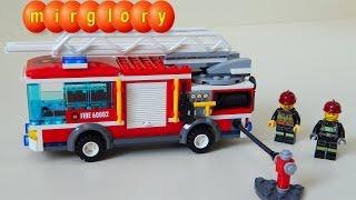 Распаковка Lego CITY Fire truck - Пожарная машина конструктор Видео для детей про машинки mirglory(Распаковка игрушки пожарная машина. Собираем конструктор Lego CITY Fire truck. Unboxing toys. Новые развивающие мультики..., 2015-08-17T23:38:17.000Z)