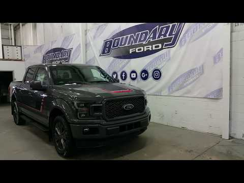 2018 Ford F-150 SuperCrew Lariat Sport Special Edition pkg Lead Foot W/ Ecoboost | Boundary Ford