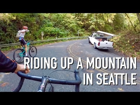 RIDING UP A MOUNTAIN IN SEATTLE