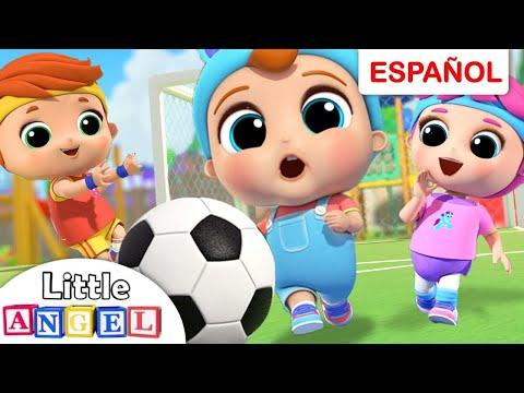 Aprendiendo A Jugar Fútbol ⚽    Canciones Infantiles   Bebé Angel En Español