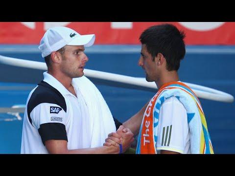 Andy Roddick vs Novak Djokovic 2009 AO Highlights