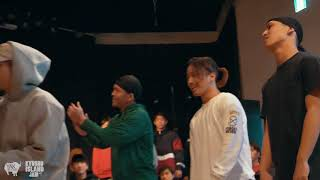 WHITE STATES B-DAYZ vs. HEADSPIN MASTERS, Bboy Crew Top16 | Kyushu Island Jam 2018