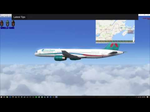 Flight Simulator X North America Tour Canada CYQM to CYMX