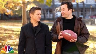 catch with jimmy fallon and jeremy renner
