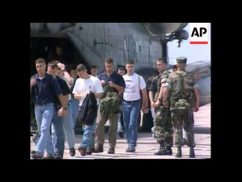 Congo - Marines stage mock evacuation