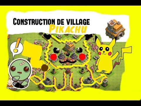 Construction de Village Pikachu pour hdv 7 - YouTube