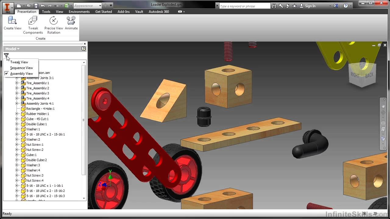 Inventor presentation tutorial: exploded views | inventor products.