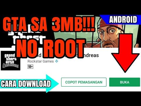 GTA SA Cuman 3Mb...! || Cara Install Dan Bermain Gta Sa Di Android