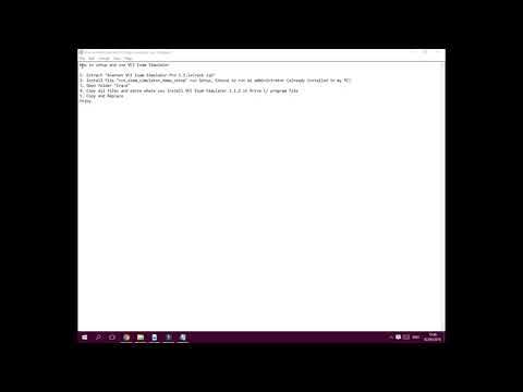 How To Install And Use VCE Exam Simulator. (Arabic)
