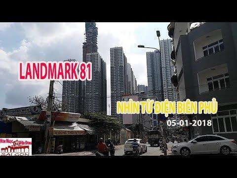 LANDMARK 81 CAO CHỌC TRỜI NHÌN TỪ GÓC ĐƯỜNG ĐIỆN BIÊN PHỦ TRƯA 06/01/2018| Saigon travel business.