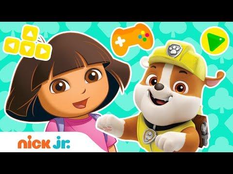 Play Dora's Magic Land Adventure Video Game w/ PAW Patrol's Rubble 🐵 Nick. Jr.