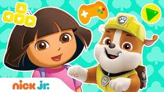 Play Dora's Magic Land Adventure Video Game W/ Paw Patrol's Rubble Nick. Jr.