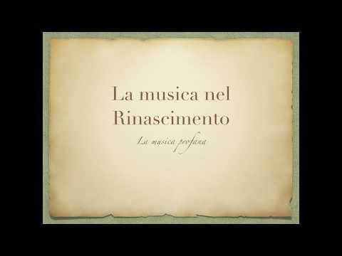 La musica profana nel Rinascimento