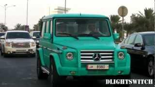 Colourful cars on the Corniche in Qatar! Lamborghini, C63, SLS & More