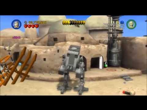 Lego Star Wars Saga - Episode 4 - Chapter 3 - Mos EIsley Spaceport - Gameplay/Walkthrough