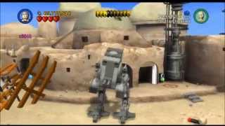 Lego Star Wars Saga - Episode 4 - Chapter 3 - Mos EIsley Spaceport - Gameplay/Walkthrough