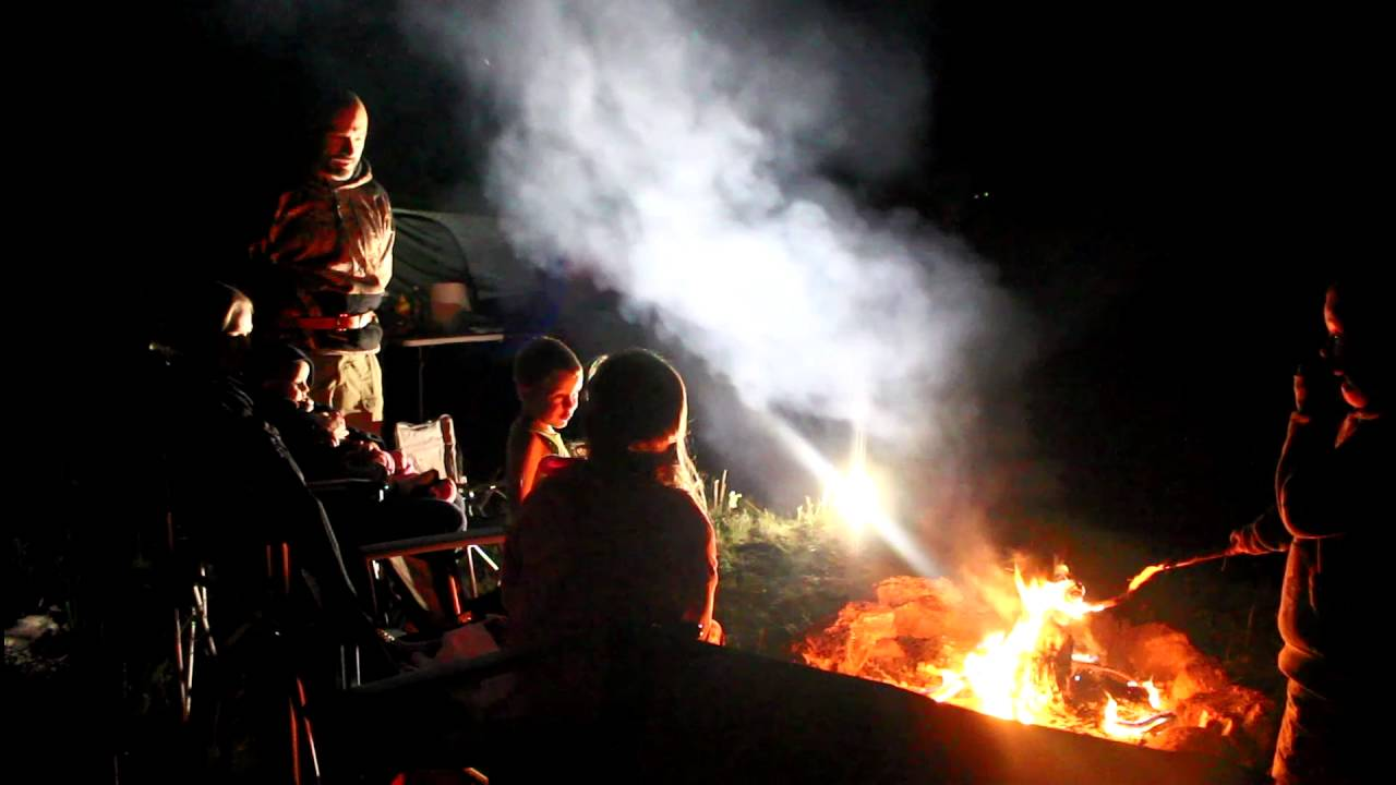 Colorado Family Camping Late Night Fireside