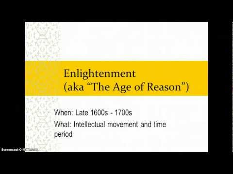The Age of Reason & The Enlightenment
