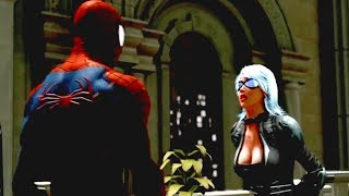 The Amazing Spider Man vs Black Cat fight & love scene in the museum