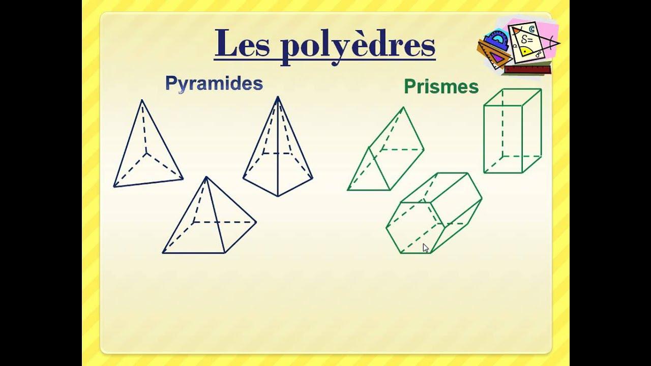 Les caractéristiques des solides (corps ronds, polyèdres ...
