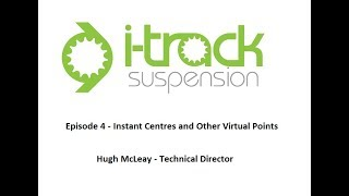 i-Track Suspension - Kinematics Series Ep04 - Instant Centres and Other Virtual Points