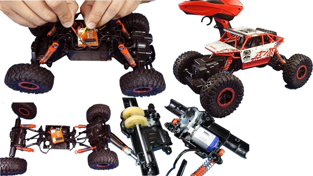 Creativefun Inside Of Remote Control Monster Truck Structure Of Remote Control Piece Of Paper Youtube