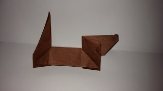 Origami Tecklel Dog/ Dachshund. (full Hd)