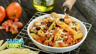Penne Arrabiata, Recipe in Hindi by Tarla Dalal