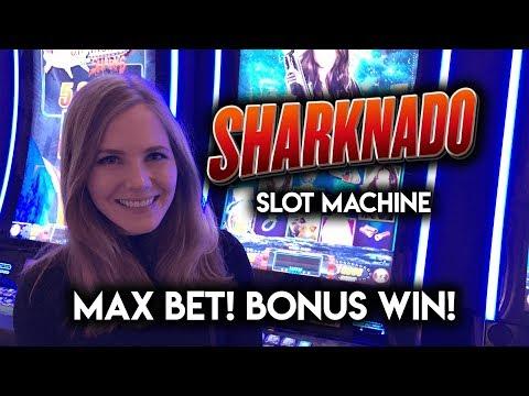 Sharknado Slot Machine BONUS + Random Feature WIN!