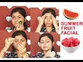 Summer Special Fruit Facial For Glowing Skin Steps At Home Using Watermelon/Parna's Beauty World