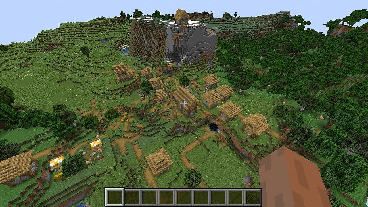 Minecraft 8.84.8 Seed 287: Three villages all near the spawn