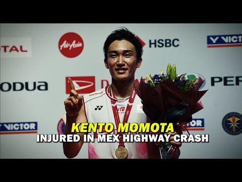 World top shuttler Kento Momota suffers broken nose in road crash
