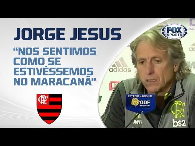 JORGE JESUS FALA APÓS GOLEADA DO FLAMENGO SOBRE O VASCO POR 4 A 1