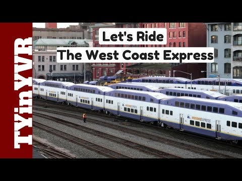 The West Coast Express (Waterfront Station to Moody Centre Station)