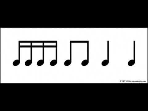Jingle Bells Rhythm Flashcards