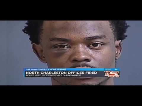 Dashcam of officer assaulting man during traffic stop, North Charleston, South Carolina