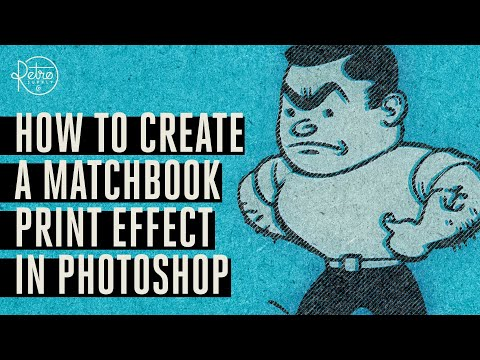 How To Create A Matchbook Print Effect In Photoshop