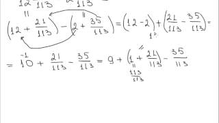 Вычитание смешанных чисел B2 NEW