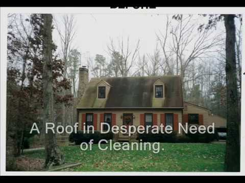 ROOF CLEANING RICHMOND VA roof stain removal RICHMOND ROOF CLEANING washing moss stain chesterfield